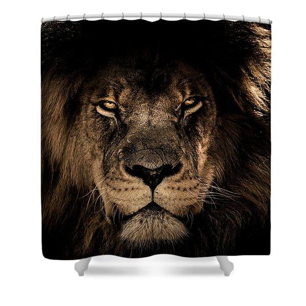 Wise Lion Shower Curtain