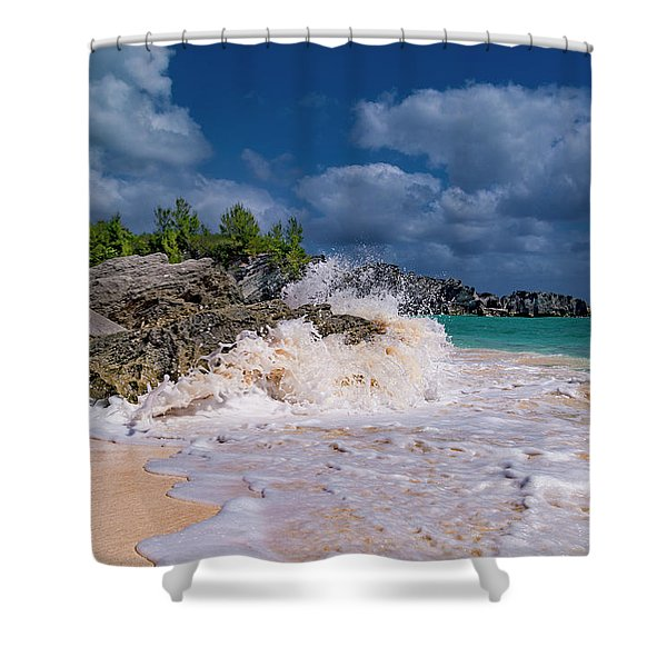 Wishing Rock Beach Day Shower Curtain