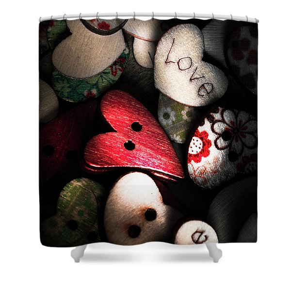 With Sentiment In The Sewing Box Shower Curtain