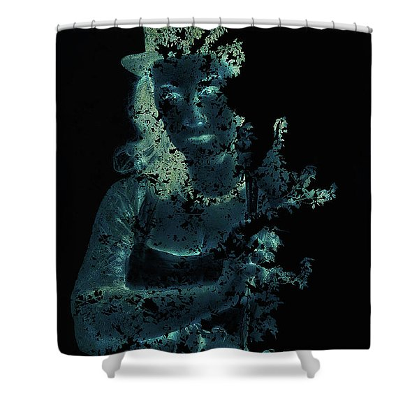 Within The Leaves Shower Curtain