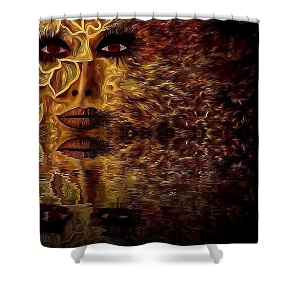 Wizard Of Flowers And Fire 1 Shower Curtain