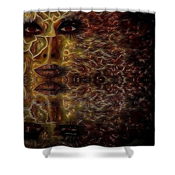 Wizard Of Flowers And Fire Shower Curtain