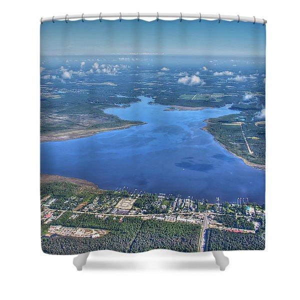 Wolf Bay Alabama Shower Curtain