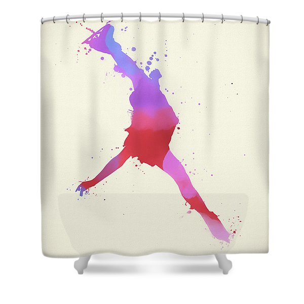 Woman Figure Skater Shower Curtain