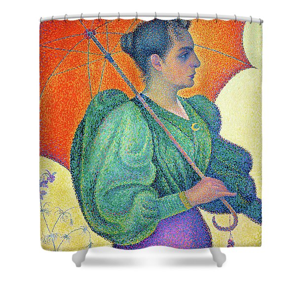 Woman With A Parasol - Digital Remastered Edition Shower Curtain