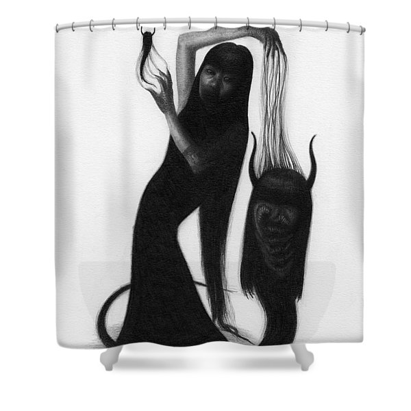 Woman With The Demon's Fingers - Artwork Shower Curtain