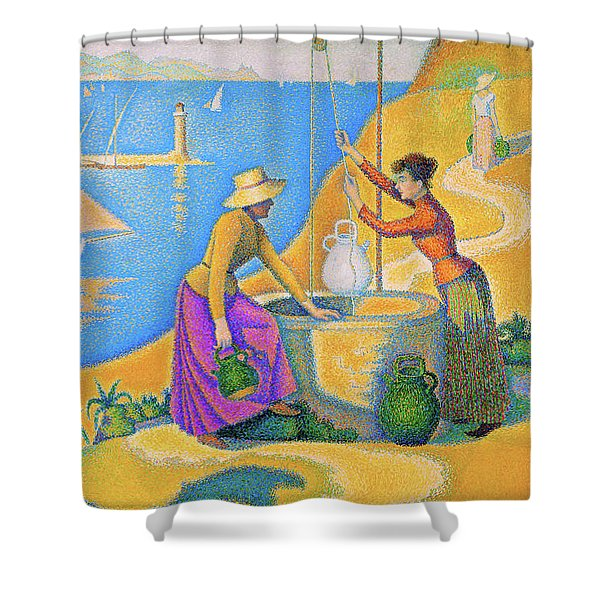 Women At The Well - Digital Remastered Edition Shower Curtain