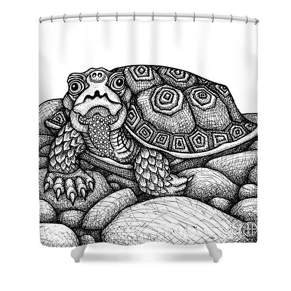 Wood Turtle Shower Curtain