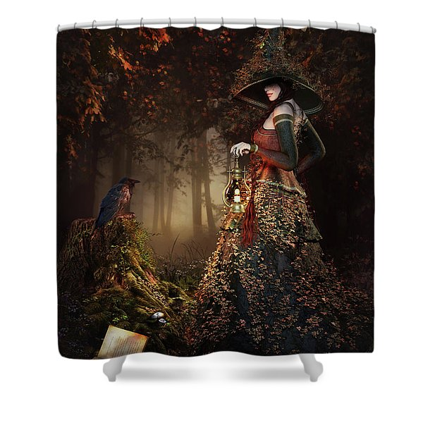 Wood Witch Shower Curtain