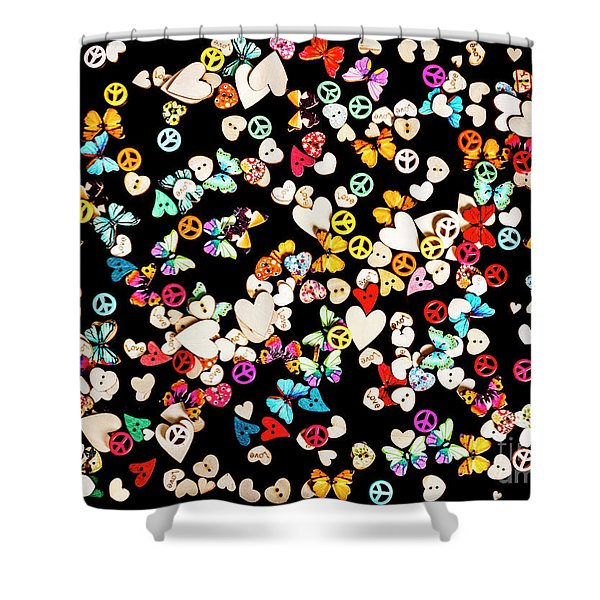 Woodstock Decorated Shower Curtain