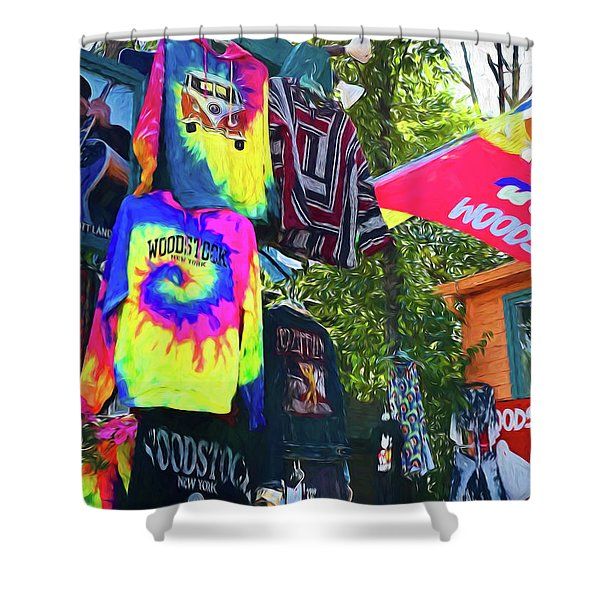 Woodstock Peace And Love 1 Shower Curtain