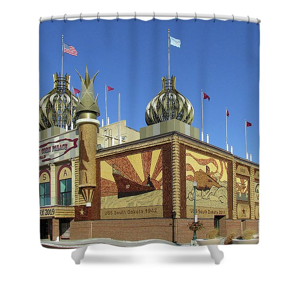 Worlds Only Corn Palace 2018-19 Shower Curtain