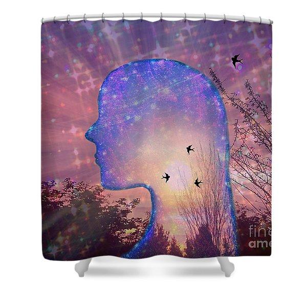 Worlds Within Worlds Shower Curtain