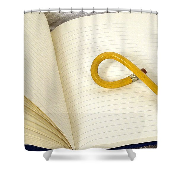 Writers Block Shower Curtain