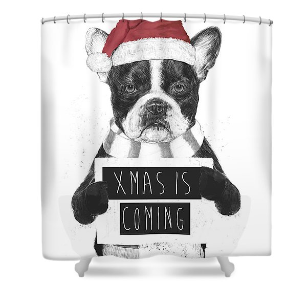 Xmas Is Coming Shower Curtain