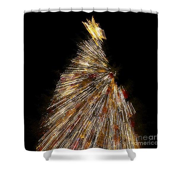 Xmas Tree Motion Art Shower Curtain