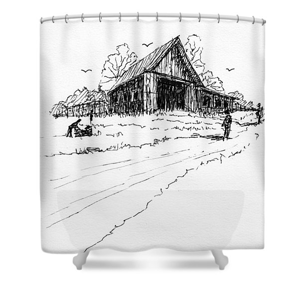 Yard-work On The Farm Shower Curtain