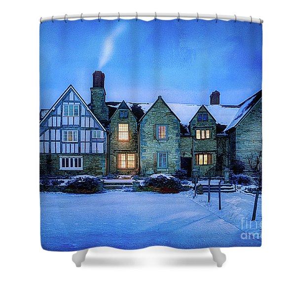 Ye Olde Manor Shower Curtain