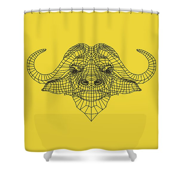 Yellow Buffalo Shower Curtain
