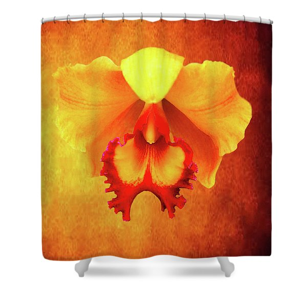 Yellow Exotic Shower Curtain