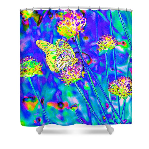 Yellow Fly Shower Curtain