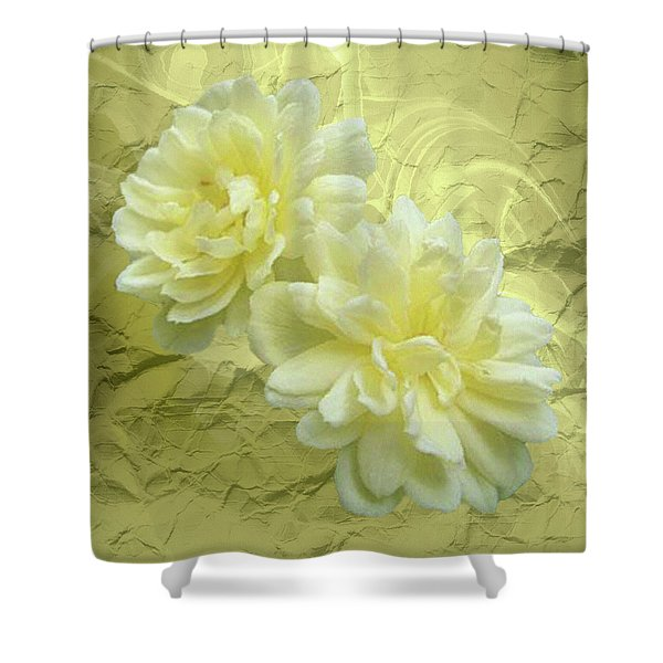 Yellow Foil Shower Curtain