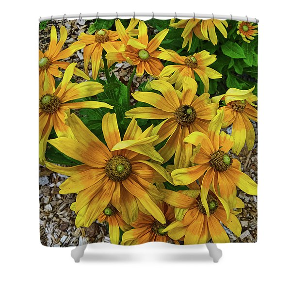 Yellow In Bloom Shower Curtain