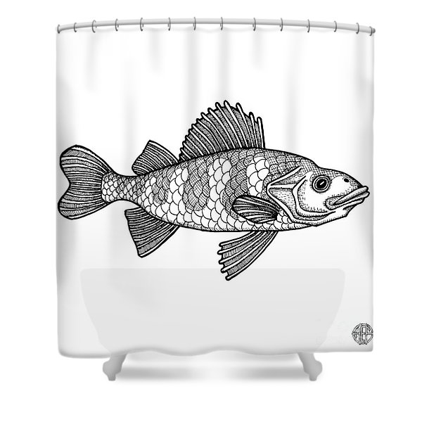 Yellow Perch Shower Curtain
