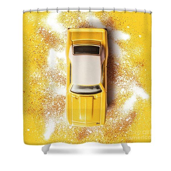 Yellow Street Machine Shower Curtain