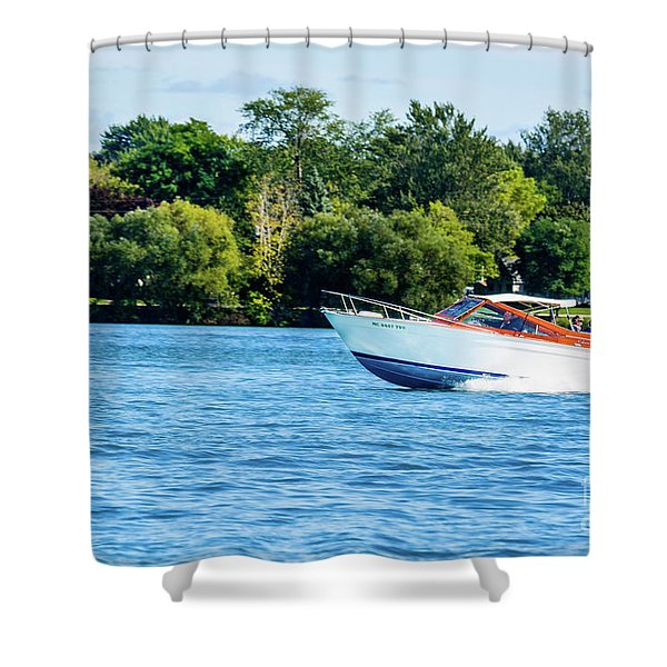 Yes Its A Chris Craft Shower Curtain