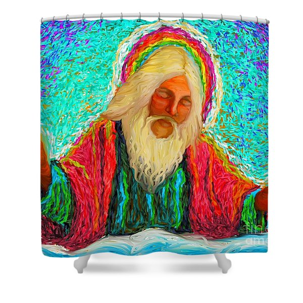 Yhwh Over Us Shower Curtain