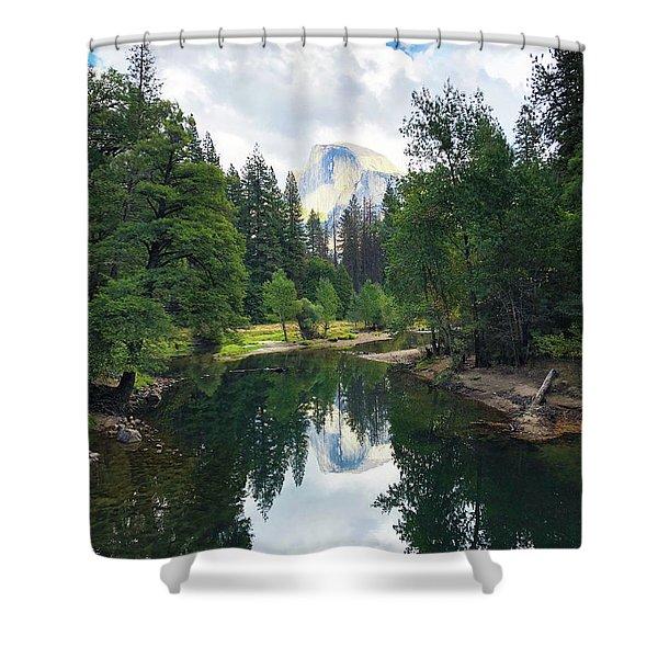 Yosemite Classical View Shower Curtain