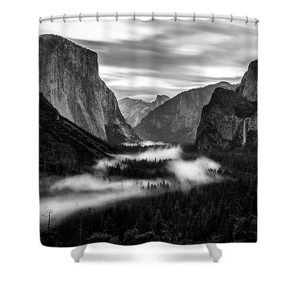 Yosemite Fog 1 Shower Curtain