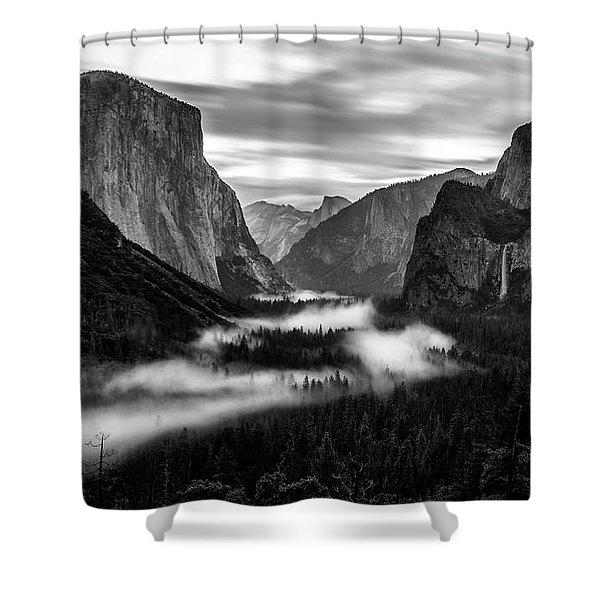 Yosemite Fog 1 Shower Curtain