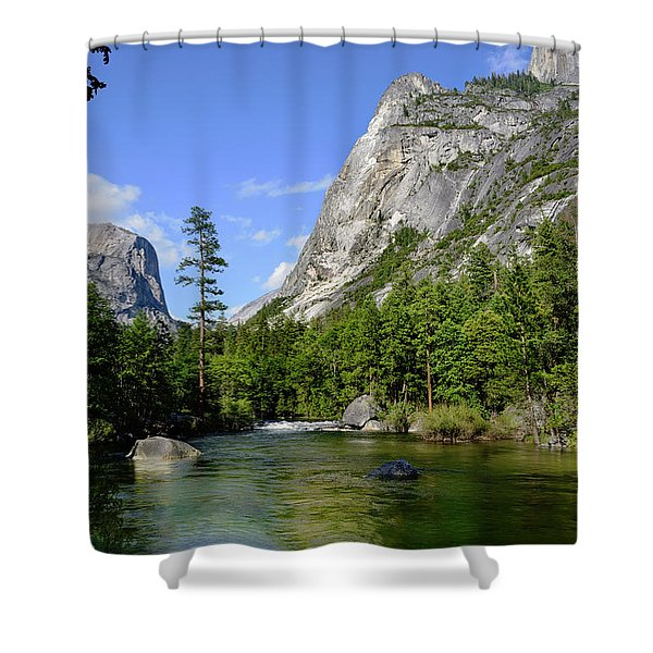 Yosemite Mirror Lake, Lower Pool Shower Curtain