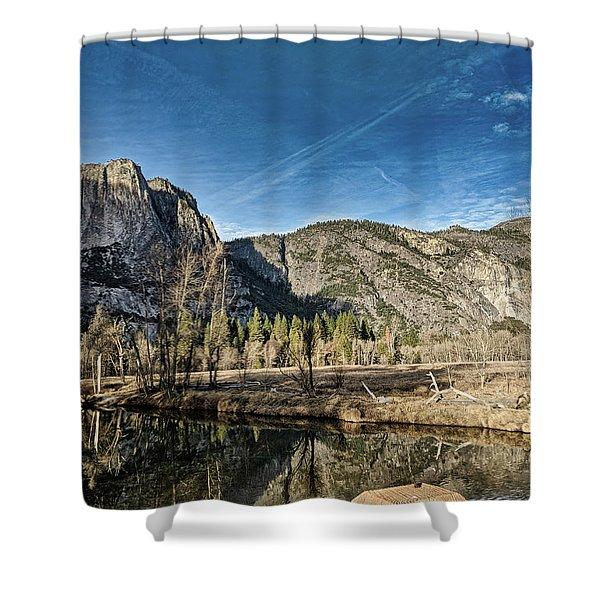 Yosemite Reflection Shower Curtain