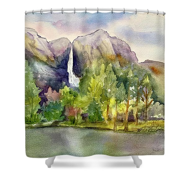 Yosemite Waterfalls Shower Curtain