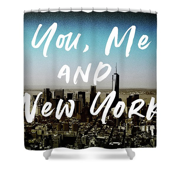 You Me New York Color- Art By Linda Woods Shower Curtain