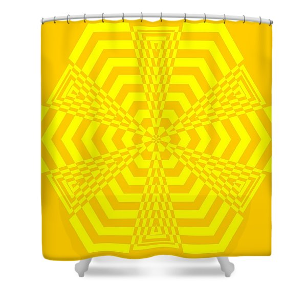 Young At Heart Yellow Shower Curtain