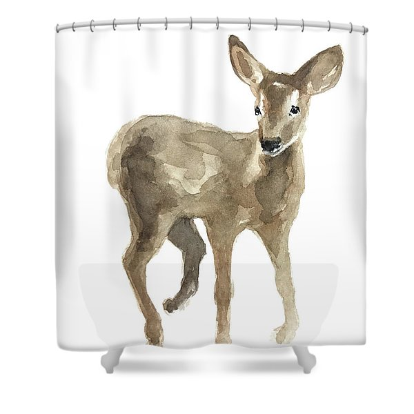 Young Fawn Without Spots Shower Curtain