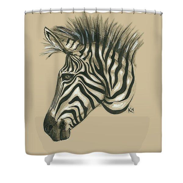 Zebra Profile Shower Curtain