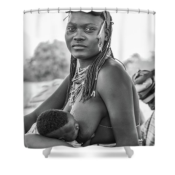 Zemba Mother And Child Shower Curtain