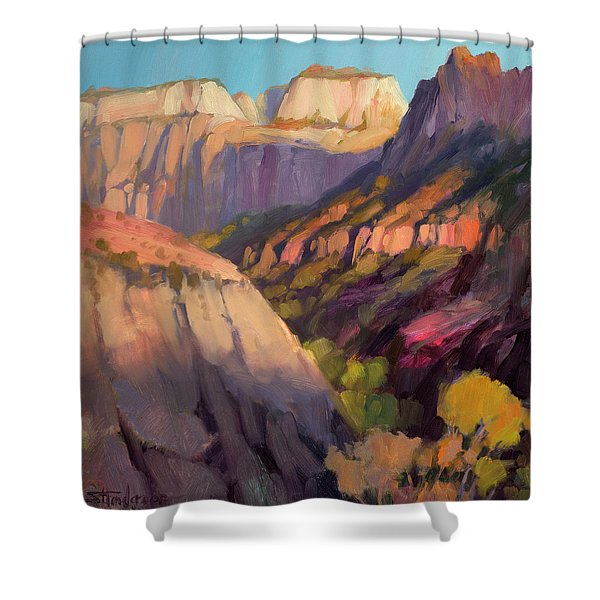 Zion's West Canyon Shower Curtain