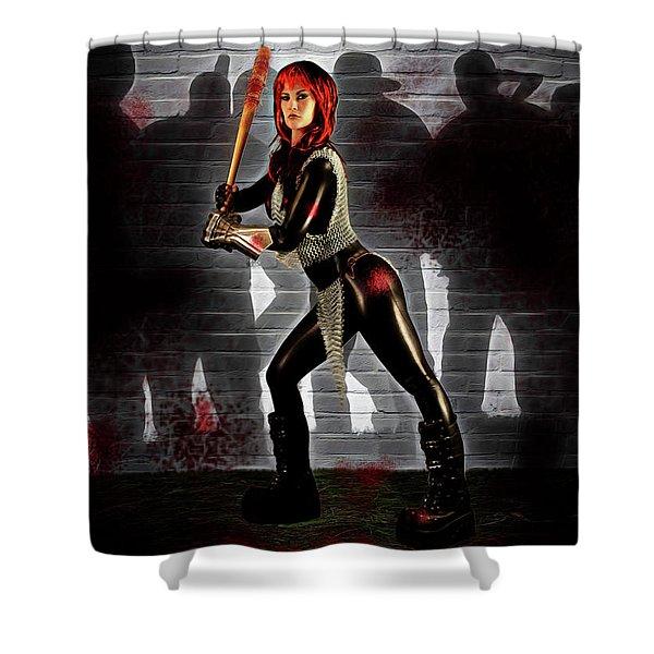 Zombie Hunter Shower Curtain