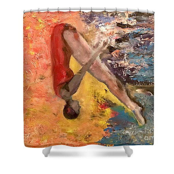 Shower Curtain The Swan Dive By Artist Ane Howard