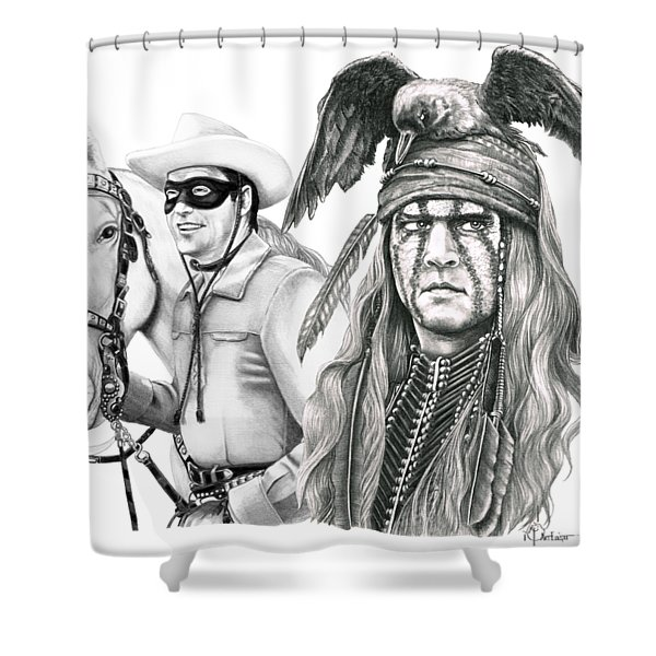 Set Of 2 Vintage The Lone Ranger And Tonto Curtains