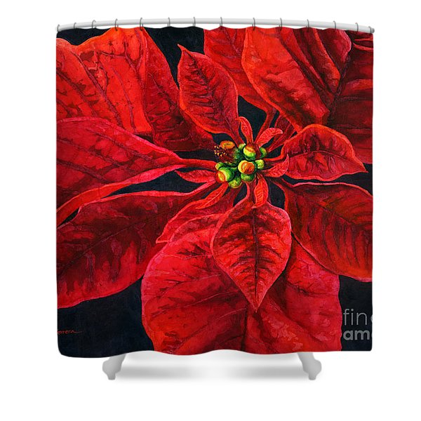 Poinsettias Shower Curtains Fine Art America