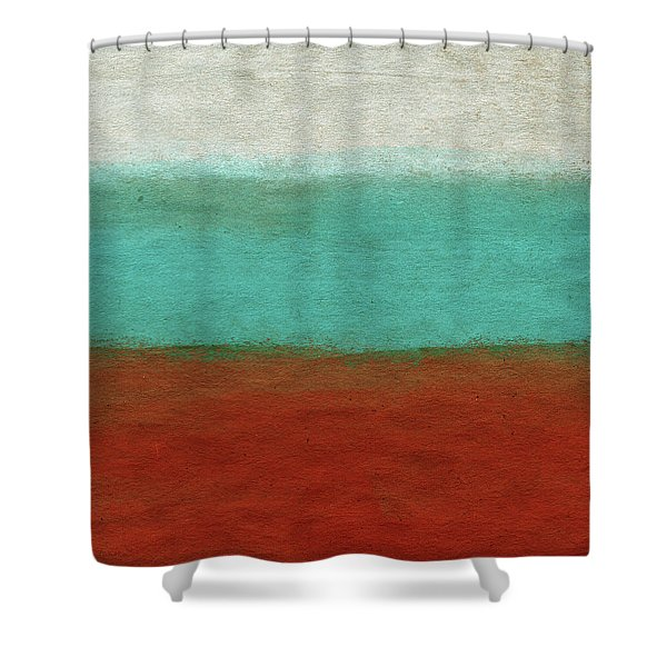 teal and orange shower curtains fine
