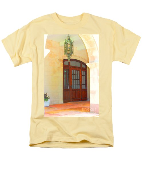 Men's T-Shirt  (Regular Fit) featuring the photograph  Elegant Arched Entrance by Judy Palkimas