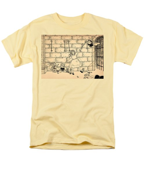 Men's T-Shirt  (Regular Fit) featuring the drawing Escape by Reynold Jay